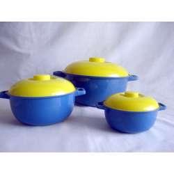 Set de 3 cacerolas deGalicia ref.1119/j3 azul