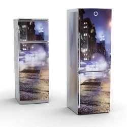Vinilo Stick art autoadhesivo Street light frigorifico 200 x 64 cm