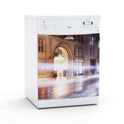 Vinilo Stick art autoadhesivo Street light lavavajillas 75 x 64 cm