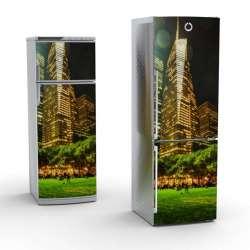 Vinilo Stick art autoadhesivo Sky line frigorifico 200 x 64 cm