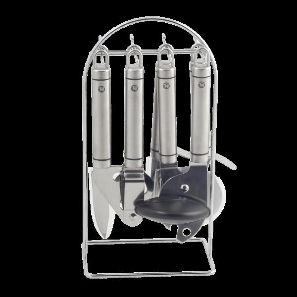 Metaltex victoria juego 6 utensilios cocina con soporte for Soporte utensilios cocina