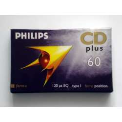 Cassette audio philips CD plus 60