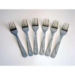 Lote 6 tenedores lunch dalper mesa hotel acero inoxidable