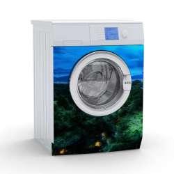 Vinilo Stick art autoadhesivo Hutong lavadora 75 x 64 cm