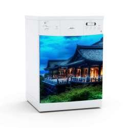 Vinilo Stick art autoadhesivo Hutong lavavajillas 75 x 64 cm