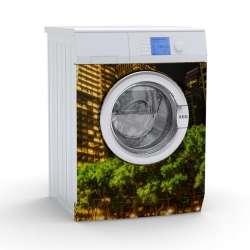 Vinilo Stick art autoadhesivo Sky line lavadora 75 x 64 cm