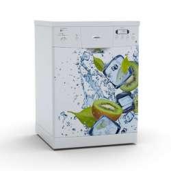 Vinilo Stick art autoadhesivo Ghiaccio lavavajillas 75 x 64 cm